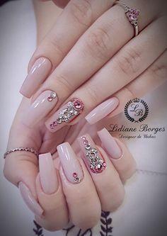 Jrassweiler unhas nude nails perfect nails e matte nails Soft Nails, Bridal Nail Art, Gel Nails French, Nail Designer, Diva Nails, Luxury Nails, Elegant Nails, Nude Nails, Matte Nails