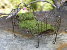 Fairy Bed Furniture Day Bed Miniature Accessory For Fairy Garden Accessories…