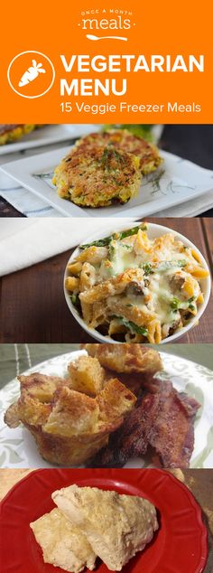 Our Vegetarian November 2016 Menu highlights the many ways freezer meals can bring joy to your table. via @onceamonthmeals