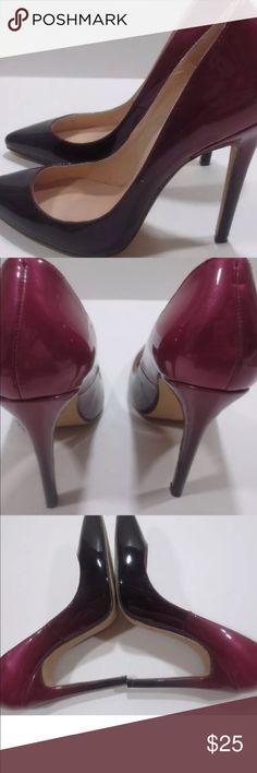 Loslandifer Pumps Like new! Patent leather pumps!!! Ombré burgundy to dark purple size 40/10 worn once! loslandifer Shoes Heels