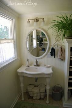 I have this same sink.  Now I want to do bead board in the bathroom!