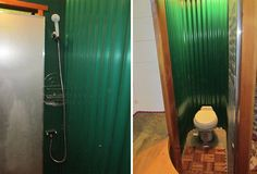 shower (composting) toilet combo... i'm not sure about this, but it saves SO MUCH space. i love efficiency. garden-caravan