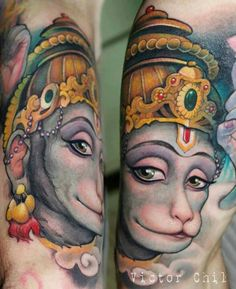Hindu tattoo beautiful #hanuman https://www.facebook.com/pages/Hindu-community/350868251717144?ref=profile