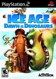 Ice Age: Dawn of the Dinosaurs - PlayStation 2:   Join Ice Age¿s unlikely herd of prehistoric pals for their wildest, wackiest, most exciting adventure yet! For the first time, play as six beloved Ice Age characters as they embark on a rescue mission across melting snow to the mysterious Dinosaur World ¿ an all-new, fur-raising jungle of carnivorous plants, lush foliage and fierce dinosaurs. Based on the highly anticipated Fox film Ice Age: Dawn of the Dinosaurs, it¿s a rollicking ride...