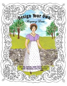 """Design Your Own Regency Dress kit. $9.99.  Annual Fundraising Ball: Regency Era beginning in 2016 for The Lily Eva Foundation in association with """"BREAKING"""" and www.breakingabuse.com #BreakingAbuse"""