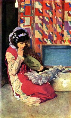 Elizabeth Shippen Green - Tapestries of Twilight, Harper's Monthly Magazine May 1911.