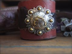 A personal favorite from my Etsy shop https://www.etsy.com/listing/279275222/leather-cuff-western-bracelet-cowgirl