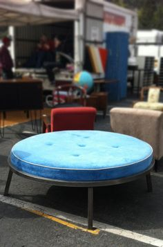 Cushion table / Ottoman --would be amazing in the center of a dreamy walk-in-closet--or great for a retail shop.