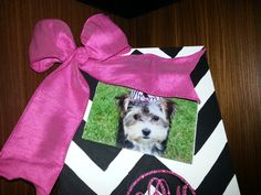 Chevron Personalized {with monogram} Picture Frame