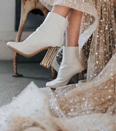 Bobbie Brown, Wedding Boots, Gold Wedding, Wedding Dress, Copper Wedding, Spring Wedding, One Day Bridal, Exclusive Shoes, Wedding Day Inspiration