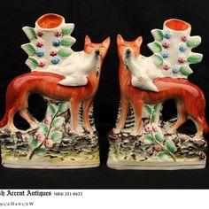 English Staffordshire Foxes 19th Century