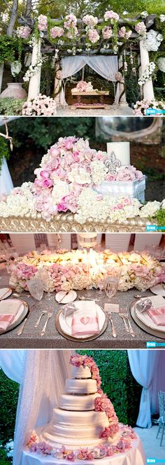 prefect way to do a pink-themed wedding without going tacky