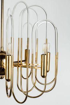 Gaetano Sciolari Brass Chandelier   lighting