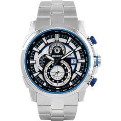 ab7dde34f73 Relógio Masculino Orient Cronógrafo Prata MBSSC110 PSSX Itens Masculinos