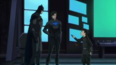 Ahhhhhh Damien is so tiny!!!! And THEY KEPT the YOUNG JUSTICE NIGHTWING LOOK ON GRAYSON!!! YAY!