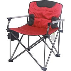 Deluxe 500 Lb Capacity XXL Director Chair With Durable Steel Frame And Hard  Armrest Red *