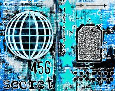 More awesome art journal pages from Mary Nasser using StencilGirl Stencils.