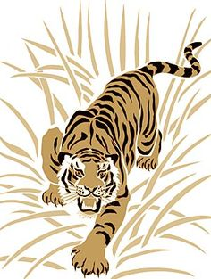 Tiger Head Pattern Use The Printable Outline For Crafts