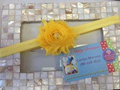 Simple Yellow Shabby Headband by Unikbaby on Etsy, $3.00