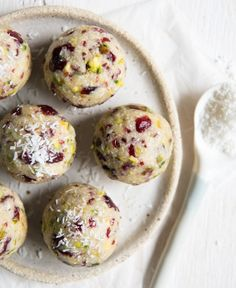 Cranberry and Pistachio Bliss Balls ~ Wholefood Simply