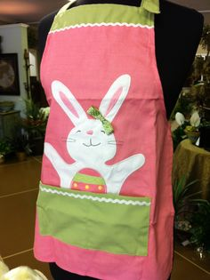 Cute Easter Apron for little girl. Available at Ruston Florist and Boutique, Ruston, La.