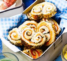 These savoury pastries are sure to please at a posh picnic, with cream cheese, smoked fish and puff pastry Savory Pastry, Savoury Baking, Savoury Biscuits, Smoked Fish, Smoked Salmon, Bbc Good Food Recipes, Cooking Recipes, Easy Cooking, Brunch Recipes