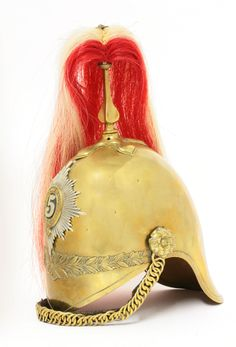 A British Army 5th Princess Charlotte of Wales Regiment of Dragoon Guards helmet Sold for £520 19th November 2013.