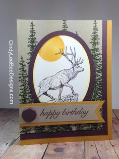 SU The Wilderness Awaits with Wonderland with brad - Masculine birthday Masculine Birthday Cards, Birthday Cards For Men, Masculine Cards, Guy Birthday, Animal Birthday, Boy Cards, Men's Cards, Greeting Cards, Horse Cards
