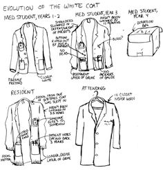 To White Coat or Not To White Coat In South Africa, two groups of people wear the white medical coat as a rule: medical students and old-school professors. In fact, at my medical school, you celebrated your induction into studen. Medical Student Humor, Medical Jokes, Medical Careers, Medical School, Medical Students, Doctor Jokes, White Coat Ceremony, Becoming A Doctor, Med Student