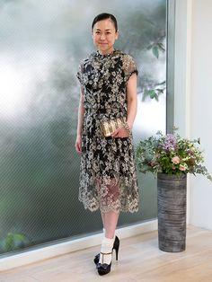 ふんわりレースでイノセントなドレスアップ。「ヴゼット」デザイナー、田辺瑞紀さんのお呼ばれスタイルをご紹介。