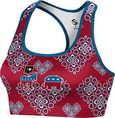 Womens Instagram Donkey Hillary Clinton President Foxy Sports Bra XSmall -- For more information, visit image affiliate link Amazon.com