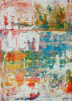"Saatchi Online Artist: CHRISTIAN HETZEL; Acrylic, 2013, Painting ""blurred colors"""