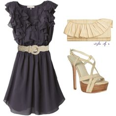 Navy Ruffle Dress :)