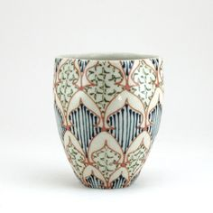Wheel Thrown Ceramic Tumbler  Juice Cup with by dawndishawceramics, $36.00