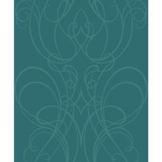 Fine Decor Live Laugh Love Teal Silver Motif Swirl Scroll Feature Wallpaper