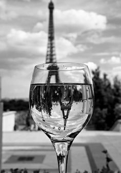 Eiffel Tower, Paris, France - through a wine glass. i'm going to recreate this pic in december