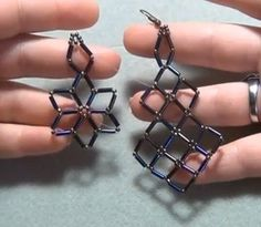 Video Tutorial : Simply Squares Beaded Earrings ( video is located close to the bottom of the page)