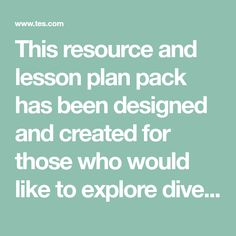 This resource and lesson plan pack has been designed and created for those who would like to explore diversity with a class of children through a series of workshops designed to encourage thought and conversations.   Citizenship lessons are sometimes...