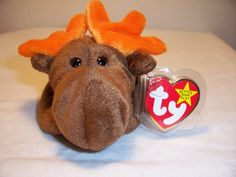 TY Beanie Baby - Chocolate - The Moose Has slight crease on tag Style# 04015 Polyester Fiber,PE Pellets From a smoke free home From a smoke free home. Beanie Babies, Ty Beanie, Baby Stuffed Animals, Moose, Chocolate, Beanies, Handmade Gifts, Fun Stuff, Etsy