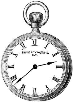 Old Design Shop ~ free digital image: vintage pocketwatch clipart