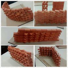 Brick Cladding, Brick Facade, Wall Cladding, Brick Architecture, Concept Architecture, Amazing Architecture, Brick Design, Wall Design, Brick Detail