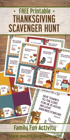 Thanksgiving Scavenger Hunt for Kids: Free Printable Thanksgiving Activities: A fun family activity to help you teach gratitude to your … Thanksgiving Activities For Kids, Thanksgiving Traditions, Kids Thanksgiving, Family Activities, Kindergarten Thanksgiving, Thanksgiving Desserts, Devotions For Kids, Scavenger Hunt For Kids, Scavenger Hunts