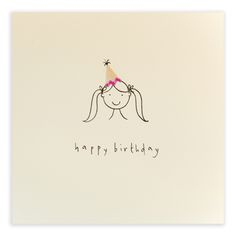 A jolly hat for the birthday girl – Diy Gifts For Friends Happy Birthday Girls, Girl Birthday Cards, Birthday Wishes Quotes, Handmade Birthday Cards, Diy Birthday, Birthday Greetings, Birthday Outfits, Funny Birthday, Birthday Ideas