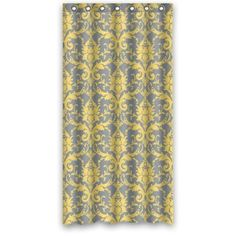 GreenDecor Yellow And Grey Damask By Damask Waterproof Shower Curtain Set with Hooks Bathroom Accessories Size inches Shower Curtain Sets, Shower Curtains, Bathroom Accessories, Damask, Hooks, Rugs, Yellow, Grey, Fabric