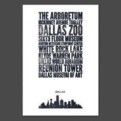Dallas City Print