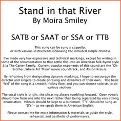 Stand in That River | moira smiley