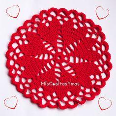 ♥ Tapete de Corazones a Crochet ♥