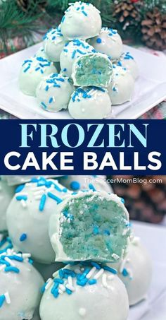 Frozen Cake Balls These cool Frozen Cake Pops are are gorgeous winter treat and they're as tasty as they look! Perfect to celebrate the release of the new Frozen 2 movie! If you or your kids can't wait to see Frozen 2 then this cute dessert is perfe Pastel Frozen, Frozen 2, Frozen Themed Birthday Party, Disney Frozen Birthday, 2nd Birthday, Frozen Party Food, Birthday Ideas, Frozen Themed Food, Elsa Birthday Cake