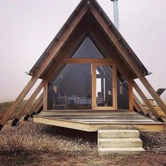 Untold adventures on the outside. Cozy on the inside. Live the glamping life in … - architecture house Tiny House Cabin, Cabin Homes, My House, A Frame House Plans, A Frame Cabin, Cabin Design, Tiny House Design, Architecture Design, Residential Architecture