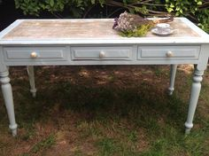 Solid Pine Antique writing Desk by Bowiebellefurniture on Etsy
